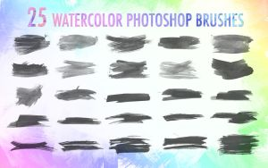 Abso1ut Watercolor Photoshop Brushes by absolut2305