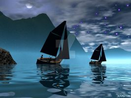 Full Moon Sailing by drumthrasher4hr