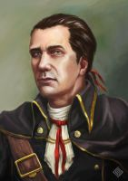 Another portrait of Haytham Kenway by MiryAnne
