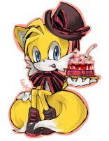 Tails with birthday cake by Captain-Tot
