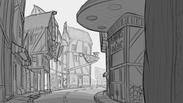 Ponyville Shops concept by Zookz25