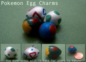 Pokemon Egg Charms by GandaKris