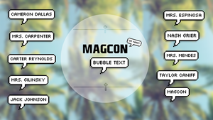 Magcon Bubble Text by ValeriaCor12