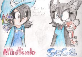 Nintendo and SEGA by silverxcristal