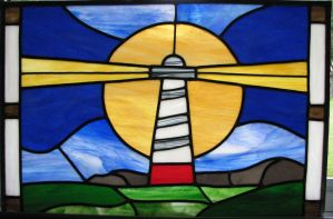 Lighthouse Stained Glass by AutobotWonko