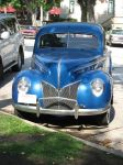 Antique car blue by SAPOMstockxtras