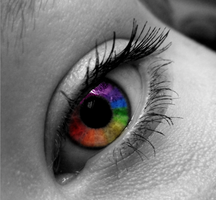 Rainbow Eye by me by themusicnerdgirl
