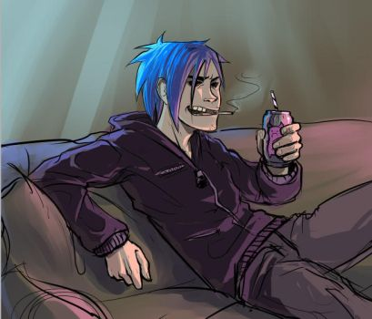 Gorillaz: 2-D by cryoclaire