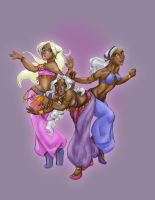 dancer girls by LaTopazora
