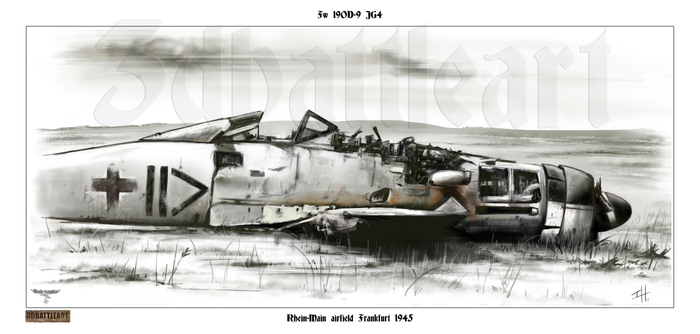 Fw 190D9 wreck late 1945 by Brokeneagle63