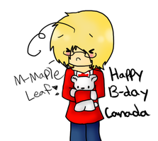 Happy B-day Canada~! by Ask-Ookami-2pEngland
