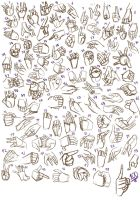 100 Hands Practice by FoxxBrush