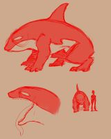 Old Orca Monster Concept by Hobbes918