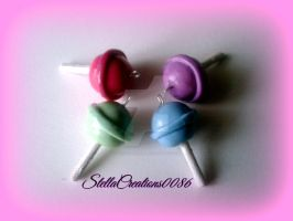 polymer clay -lollipop by gothicstella