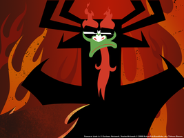 Aku Is NOT Impressed Wallpaper by Katze-Cat-KuroNeko