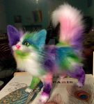 Acrylic the Cat! (Poseable art doll) by creaturesofwhimsy