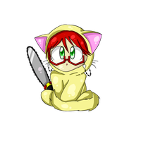 Grell Kitty Chibi by Telapathic