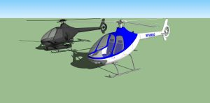 Cabri G2 and yet to be named manned flyable drone by NezumiYuki