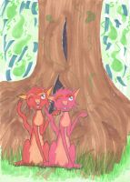 The weasly twins by L1ghtningpaw