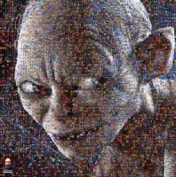 Gollum LOTR Photomosaic by DolfD