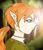 Guy walking through forest by smittywerberyagerman