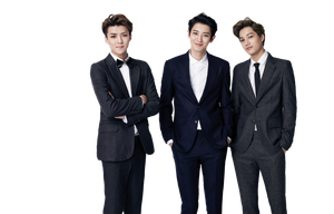 Sehun, Chanyeol and Kai [EXO] PNG by Yourlonglostsister