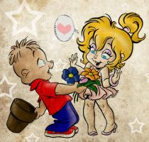Alvin x Brittany colored by marsipan312
