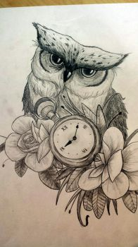 owl and time by juanma8585