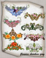 Flowers Divibers Png by roula33