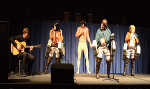Shingeki no Boy band (plus Mikasa) by BleachcakeCosplay