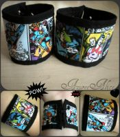 Superman Cuffs by AzureeAlice