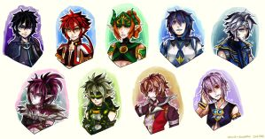 Guys of Grand Chase Bust lineup by Renciel