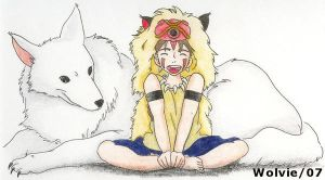 Princess Mononoke by ChibiThekla