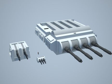 Imperial Turrets WIP by quacky112