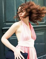 PINK DRESS - GREEN DOOR by cetrobo