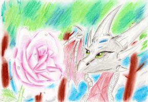 Magical rose by IcelectricSpyro
