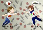 The Pasta and the Tomato by Hakkaeni