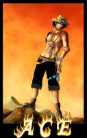 ACE - One Piece by bloody-widow
