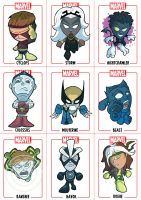 Chibi X-Men sheet1 by Juggertha