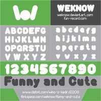 Funny And Cute font by weknow by weknow