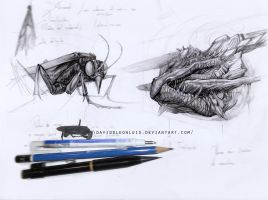 Study, based on dissected insect (wasp)/ Design by Daviddleonluis