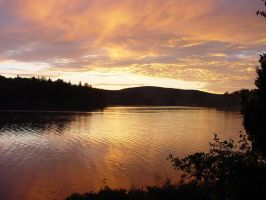 Sunset in Quebec by llavalle