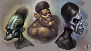 Freaky busts by Mikeypetrov