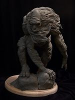 Abominable Snowman WIP 1 by Blairsculpture