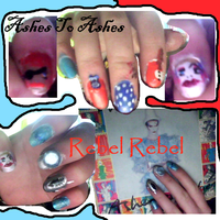 Ashes To Rebel Nailart by L-Rickman-Depp