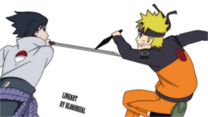 Naruto and Sasuke by Naruto-fan27