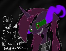 The Pain Behind my Smile by ShowtimeandCoal