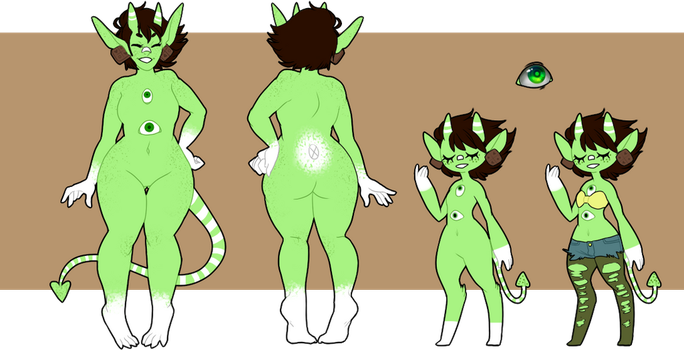 Monty ref sheet by thecrowprince