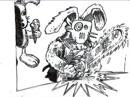 Chainsaw Rabbit Evolved by TheRolePlayingGame