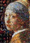 Girl with  Earring Mosaic by Cornejo-Sanchez